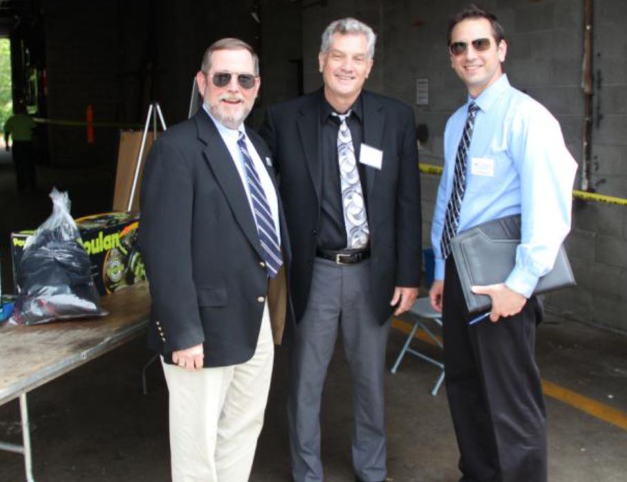 "Charles ""Skip"" Vezzetti, Rockland County Superintendent of Highways, Brad Patterson, National Chapter Membership Manager, Stephen F. Munno, New York Metropolitan Chapter Vice-President"
